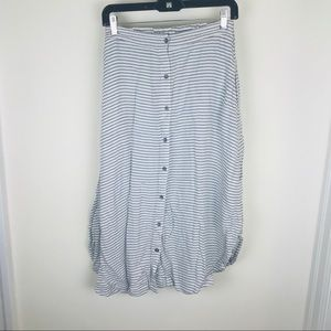 Merona Sz Small Striped Button Front A Line Full